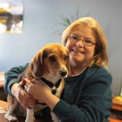 Diane Scanlon and her beagle