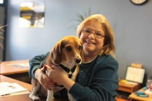 Diane Scanlon and her beagle